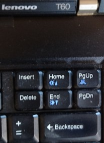ThinkPad T60, keys on the right side of the keyboard