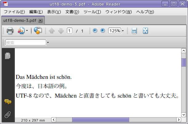 utf8-demo-3.pdf through Adobe Reader 9