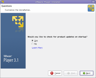 VMware player 3.1 installer